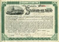 Standard Oil Trust Signed by H.M. Flagler and W.H. Tilford - Stock Certificate