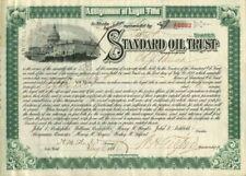 Henry Flagler signed Standard Oil Trust
