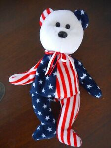 spangle beanie baby 1999 tag missing red white blue collect Ty Oakboak Il