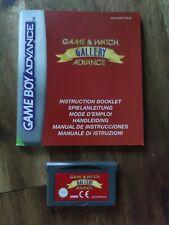 Game & Watch Gallery Advance GBA EUR Original Sehr guter Zustand