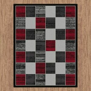 Budget BCF Rug Collection Check Designs Soft Feel In All Sizes