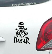 Rallye DAKAR S042 Aufkleber 12x9cm schwarz matt - Totenkopf Auto Mini Tattoo