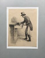Poul Steffensen 1866-1923 Herr mit Zylinder an Biedermeier Kommode Carit Etlar