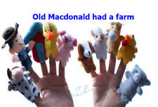 10 Pcs Old Macdonald Had A farm Finger Puppets Kids Educational Toy