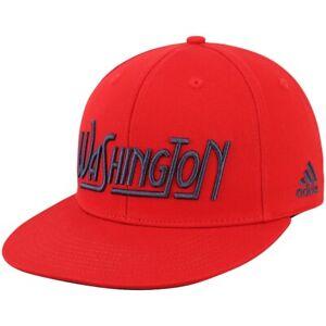 Washington Capitals Hat Adidas NHL Hockey Red Flat Brim Adult Snapback Cap New