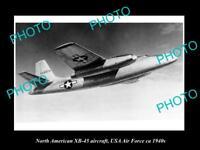 OLD HISTORIC AVIATION PHOTO, NORTH AMERICAN XB-45 AIRCRAFT, USA AIR FORCE c1940