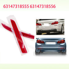 Fit BMW F10 5-Series 528i 535i 550i Red Lens Rear Bumper Cover L+R Reflector NEW