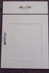 FP Ivory shaker replacement fitted kitchen cupboard unit doors/drawers T&G panel