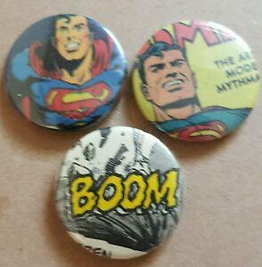 Superman bespoke badge set DC comics*