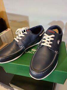 Lacoste Men's Dreyfus SPM Leather Sneakers - Dark Blue/White Size 12M
