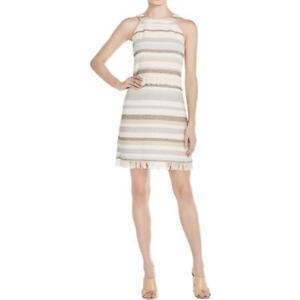 Tory Burch Jane Stripe Fringe Dress NWT 12 14