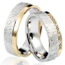 2 Trauringe 925 Silber GRAVUR Eheringe Verlobungsringe Partnerringe 1HA1011 vj