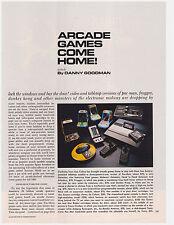 """Original 1982 Magazine Story """"Arcade Games Come Home!"""" Atari, Caleco, Pac-Man"""