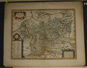 GERMANY IN ANCIENT TIME 1660c BLAEU SCARCE ANTIQUE MAP WITHOUT TEXT ON THE VERSO