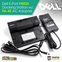 Dell E-Port Docking Station Replicator E6510 E6520 E6530 E6540 +PA-4E AC Adapter