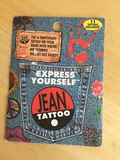 Express Yourself Jean Tattoo - No Ironing •  Apply Tattoos With Water - NIP