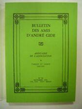 BULLETIN DES AMIS D'ANDRE GIDE N° 92 OCTOBRE 1991 VOL XIX - XXIVe ANNEE TBE