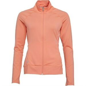 adidas Ladies Golf Rangewear Full Zip Layering Top - Coral - XL - BNWT