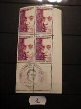 Bloc 4 timbres Yt 1785 Mi 1882 (1974) Neufs MNH ** Cachet 1er Jour FDC Marges