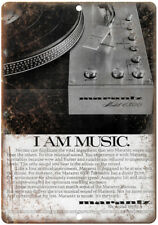 "Marantz 6300 Turntable Vintage Ad 10"" x 7"" Reproduction Metal Sign D119"