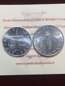 Repubblica Italiana 1 Lira Cornucopia 2 Lire Ulivo FDC da SERIE ZECCA  1968 2001