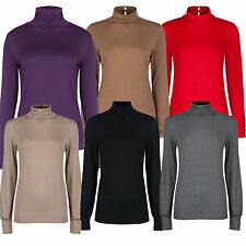 Marks & Spencer Womens Long Sleeve Roll Polo Neck  Button Keyhole Detail M&S Top