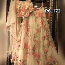 Net Floral Lehenga Choli Wedding Wear Lengha Indian Lahanga Sari Saree Indian