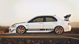 Mitsubishi decals Sports Mind Powered by Evo stickers Lancer Eclipse 3000GT Line