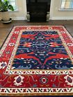 Modern Abstract Oushak Rug Handmade in India, Thick Soft Pile, High Quality,8x10