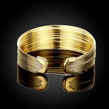 Fashion Charm Women Bracelet Bangle Cuff Gold Plated Crystal Jewelry Chain Link