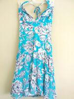 A.B.S. By Allen Schwartz Women's  Floral Lined Halter  Sz 6 Sequins Dress