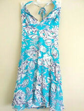 A.B.S. By Allen Schwartz Women's  Floral Lined Halter  Sz 6 Sequins Dress