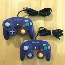 Lot of 2 Nintendo Gamecube Purple & Purple/Clear Controller OEM Official DOL-003