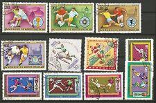 COUPE DU MONDE DE FOOTBALL MONGOLIE  lot de timbres oblitérés /T259