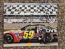 Michael Annett Signed 8x10 Daytona Photo NASCAR autograph COA
