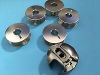 Spulenkapsel 6 mm und 5 Metall Spulen für Pfaff Nähmaschine mit Umlaufgreifer