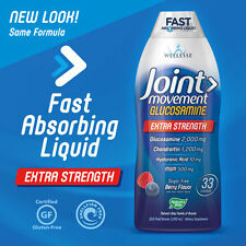 Wellesse Joint Movement Glucosamine Chondroitin Hyaluronic 33.8 Ounces Liquid