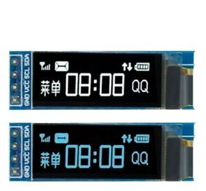 Mini 0.91 Zoll OLED SSD1306 Display I2C IIC Arduino Raspberry 128x32 weiß blau D