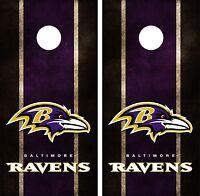 Baltimore Ravens Cornhole Board Decal Wrap Wraps