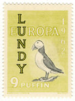 (I.B) Cinderella Collection : Lundy 9p (Europa 1962)