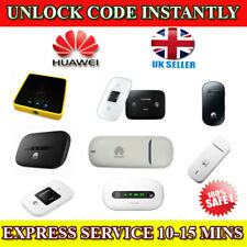 Unlock Code For VARIOUS HUAWEI Modems Instantly In Minutes 100% Safe All Models