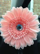 VW beetle large pale pink daisy gerbera & gem centre dash board bud vw flower
