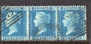 SG45 2d Blue x 3 Plt9 EG/I S/Used CAT £45++