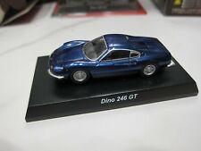 Kyosho - Ferrari 7 Collection - Dino 246 GT - blue - 1/64 - Mini Car - D10