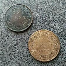 Monnaie Canada 1 Cent 1900 + 1 Cent 1906   [3245]