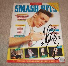 VANILLA ICE - SIGNED SMASH HITS 1991 MAGAZINE *AUTOGRAPHED* HIP HOP LEGEND!
