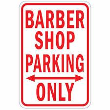Vertical Metal Sign Multiple Sizes Barber Shop Parking Only Weatherproof Street