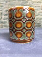 Vintage Hornsea Bronte pattern condiment pot 9cm Pottery Retro 1970's