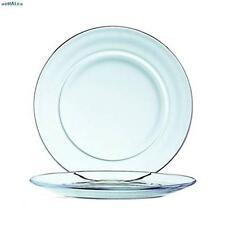 Duralex Lys Assiette Dîner Plaque Clear 23.5 cm Dinnerware Kitchen Home NEUF