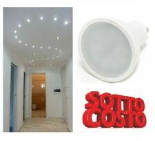 SOTTO COSTO FARETTO LED GU10 220V 7W = 60W WATT SPOTTINO DICROICHE 110° ALTARESA